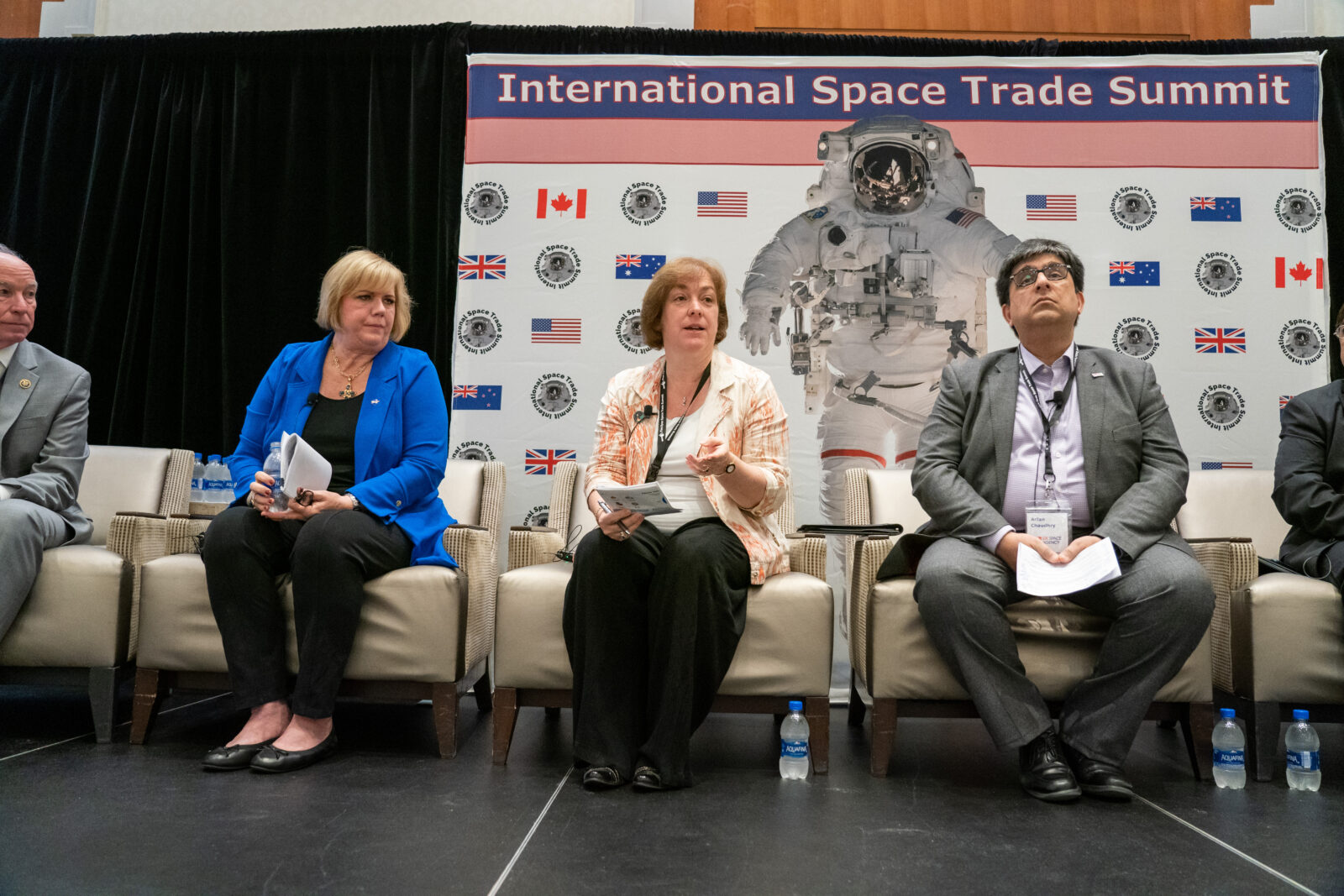 Melanie Saunders, Mary Preville, Arfan Chaudhry