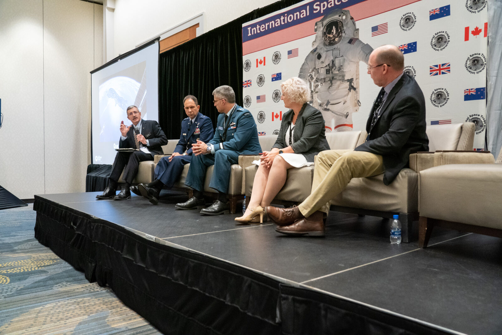 Dan Burbank, Gen. Shaw, K.G. Whale, Alison Petchell, Graham Streatfield